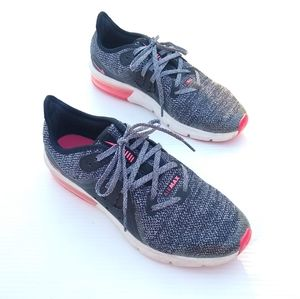NIKE Air Max sequent 3 black gray sneakers